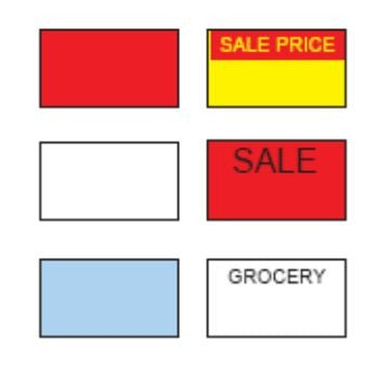Sato Price Gun Labels