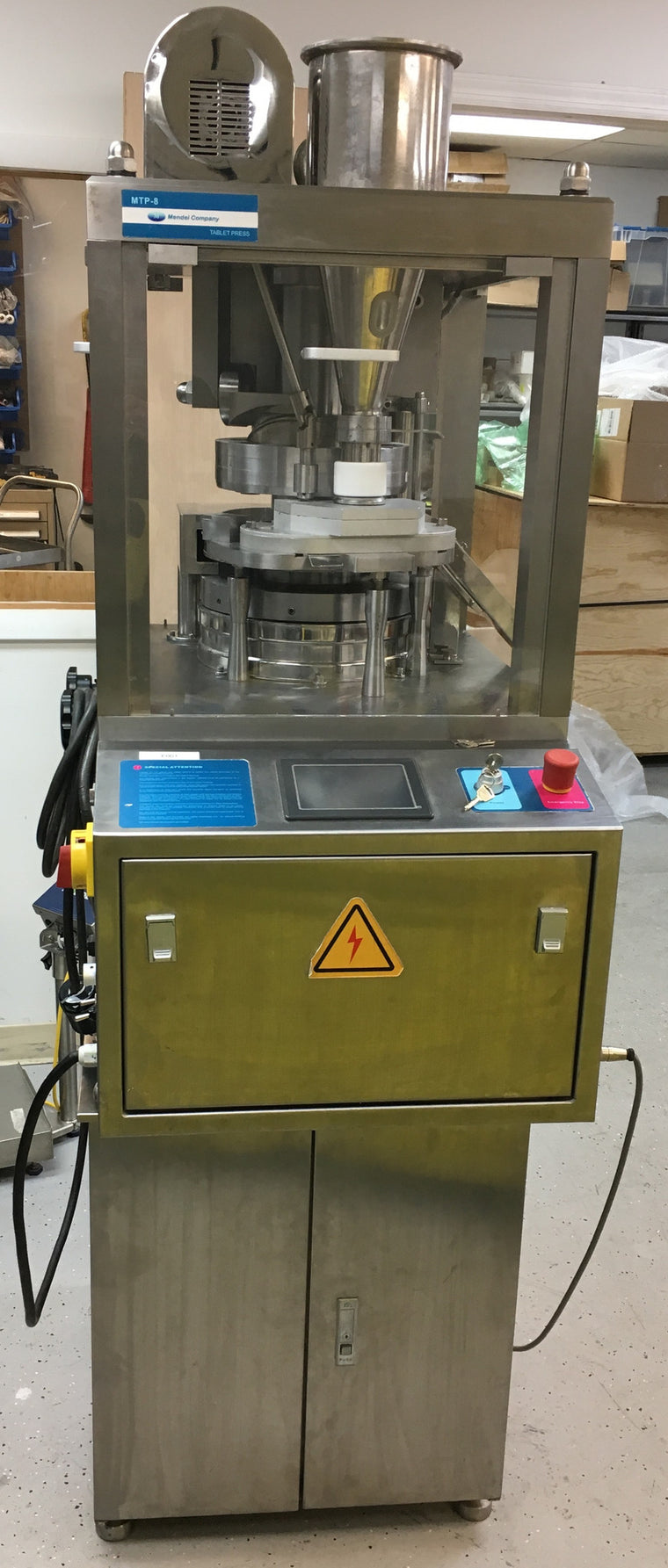 MTP-8 Reconditioned/Used R&D Instrumented (MCC) Tablet Press