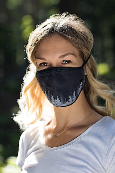 Ambler Treeline Black Face Mask - Woman
