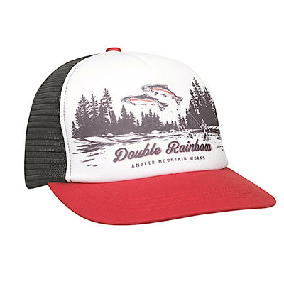 Ambler Double Rainbow Trucker Hat - Red
