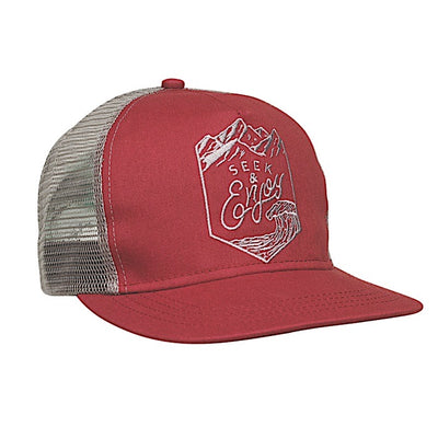 Ambler Enjoy Trucker Hat - Burgundy
