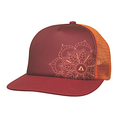 Ambler Mandala Womens Trucker Hat - Burgundy
