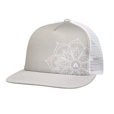 Ambler Mandala Womens Trucker Hat - Grey
