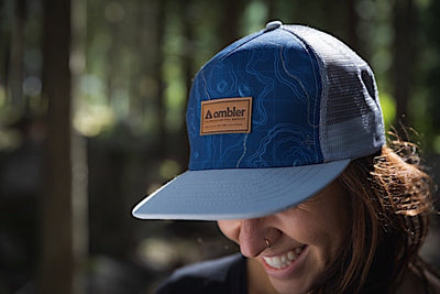 Ambler Contour Trucker Hat - Grey - Model