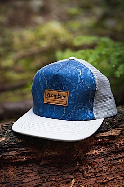 Ambler Contour Trucker Hat - Grey - Closeup