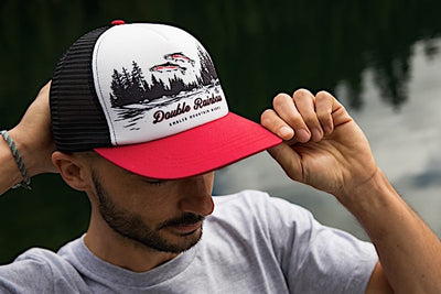 Ambler Double Rainbow Trucker Hat - Red - Mens