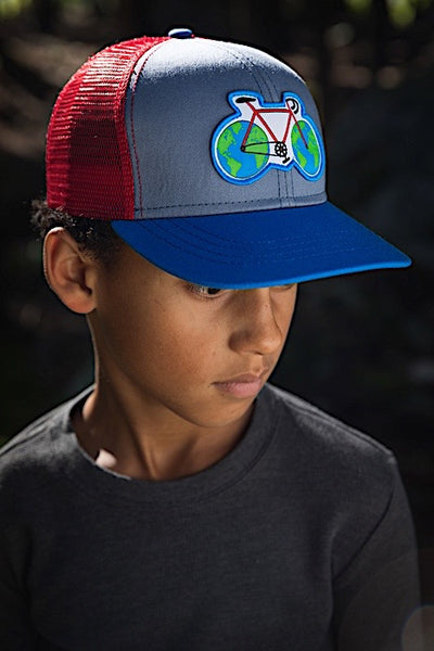 Earth Cycle kids hat - Royal - Model