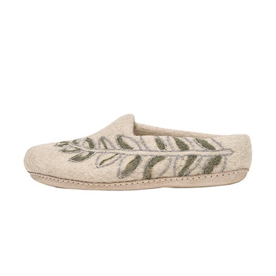 Ambler Fern Slipper - Cream