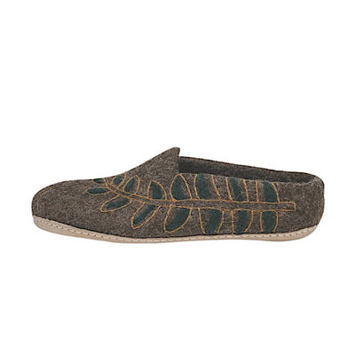 Ambler Fern Slipper - Heather Brown