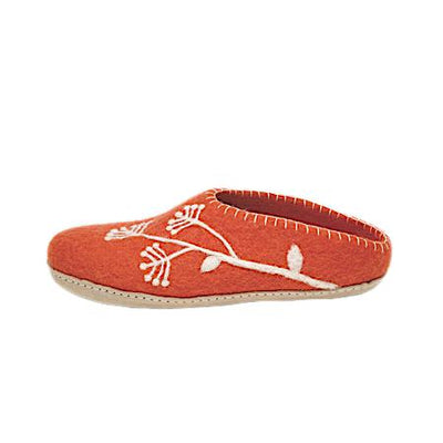 Ambler Fireweed Slipper - Coral Red