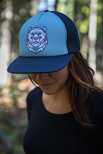 Ambler Jackson Trucker Hat - Navy - Womens