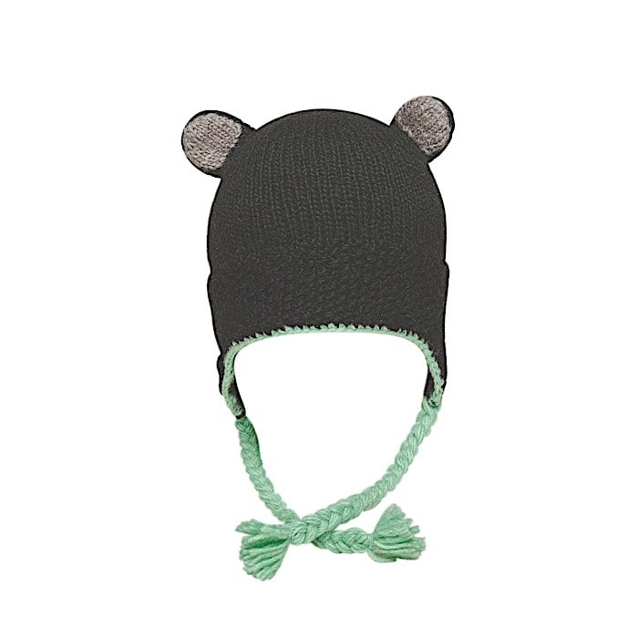 Ambler Little Bear Kid's Toque - Black Bear