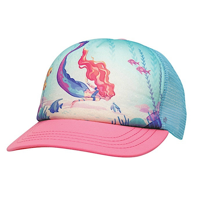Ambler Mermaid toddler trucker hat - Fuschia