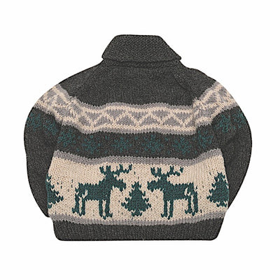 Ambler Moose Kid's Sweater - Back