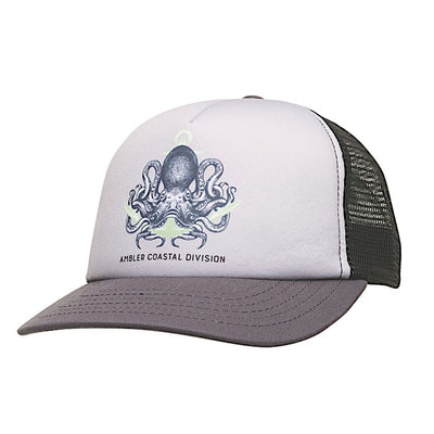 Ambler Octopus kids trucker hat - Black