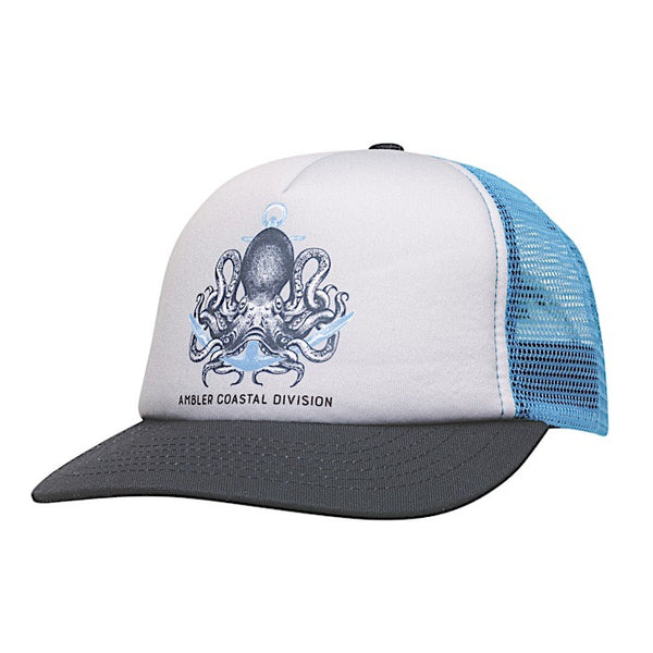 Ambler Octopus kids trucker hat - Blue
