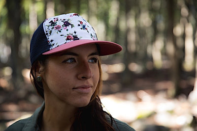 Ambler Rosa Women's Trucker Hat - Nautical Red - Model