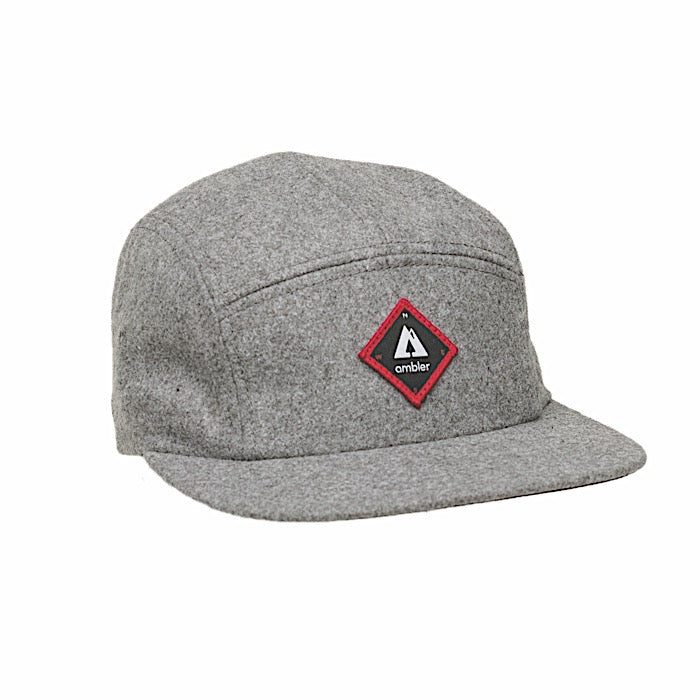 Ambler Scout Winter 5 Panel Hat - Heather Grey