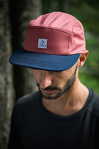 Ambler Scout 5 panel hat - Nautical Red - Model