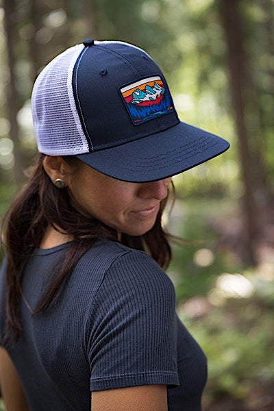 Ambler Three Sisters Trucker Hat - Navy - Womens