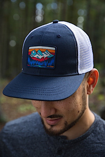 Ambler Three Sisters Trucker Hat - Navy - Mens
