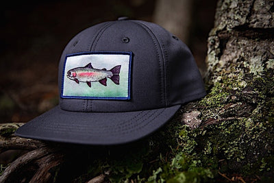 Ambler Trophy Snapback Hat - Charcoal - Closeup