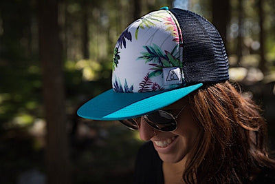Ambler Tropics Trucker Hat - Teal - Model