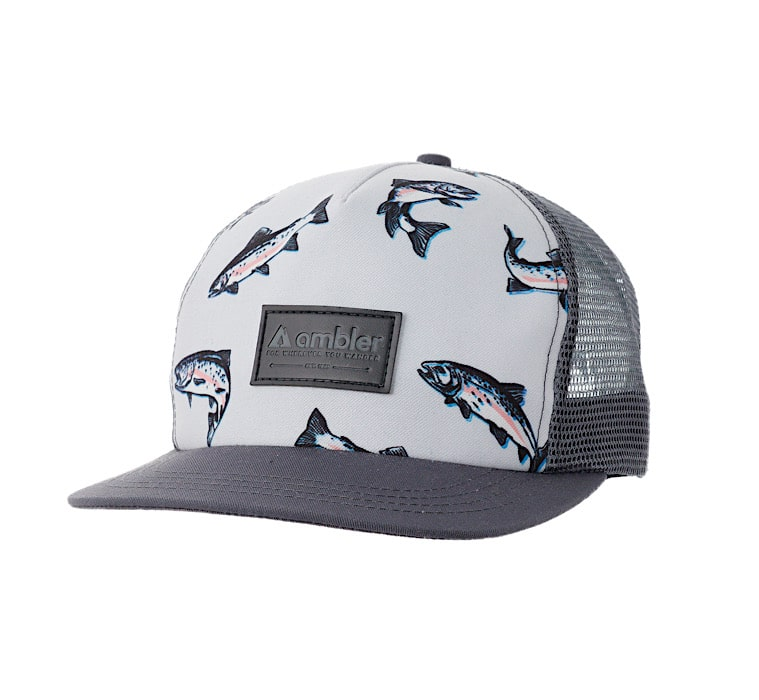 Ambler Trout Trucker Hat - Charcoal