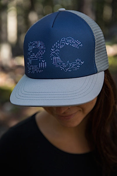 Ambler West Trucker Hat - Cloud - Womens