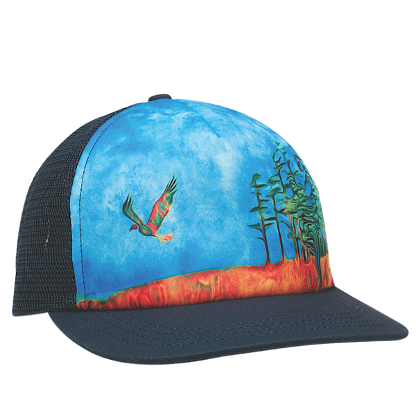 Ambler Left Coast Poetry trucker hat in Navy