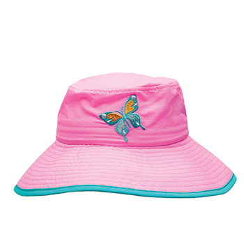 Ambler Safari kids sun hat - Blooming Pink