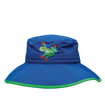 Ambler Safari kids sun hat - Cobalt