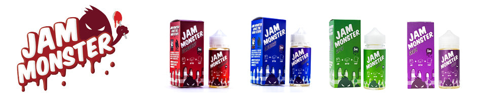 Jam Monster E Juice comes in two flavors, Strawberry & Blueberry. Jam, Butter and Toast ejuice. Boxed in a 100ml Chubby Gorilla bottle and a package of Cotton Bacon.