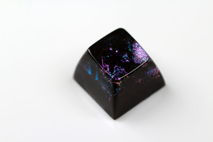 Gimpy SA Row 2/4 - Deep Field Opal Nebula 10 - PrimeCaps Keycap - Blank and Sculpted Artisan Keycaps for cherry MX mechanical keyboards