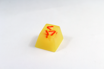 Chaos Caps 1 Strawberries, color change from yellow to red at  72°F (22°C) - PrimeCaps Keycap - Blank and Sculpted Artisan Keycaps for cherry MX mechanical keyboards