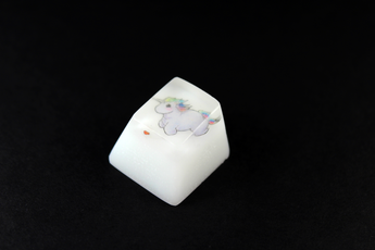 Chaos Caps 1.1 - Unicorn - PrimeCaps Keycap - Blank and Sculpted Artisan Keycaps for cherry MX mechanical keyboards