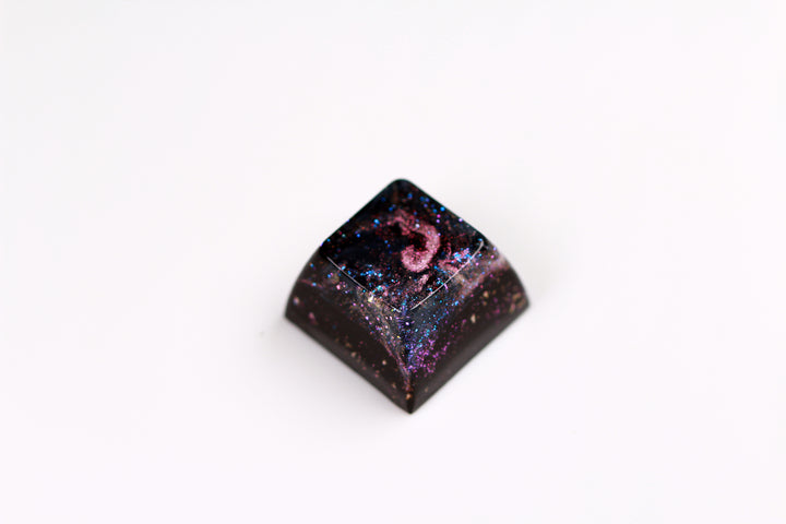Gimpy SA Row 3 - Deep Field Particle Stream 1 - PrimeCaps Keycap - Blank and Sculpted Artisan Keycaps for cherry MX mechanical keyboards