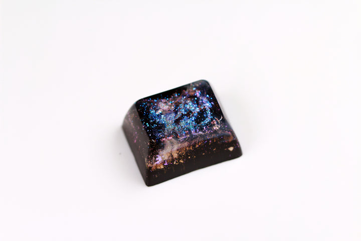 Gimpy SA Row 3, 1.25u - Deep Field Particle Stream 6 - PrimeCaps Keycap - Blank and Sculpted Artisan Keycaps for cherry MX mechanical keyboards