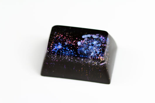 Gimpy SA Row 2, 1.5u - Deep Field Opal Nebula - PrimeCaps Keycap - Blank and Sculpted Artisan Keycaps for cherry MX mechanical keyboards