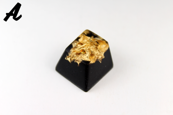 Chaos Caps 1.1 - Gold Flake - PrimeCaps Keycap - Blank and Sculpted Artisan Keycaps for cherry MX mechanical keyboards