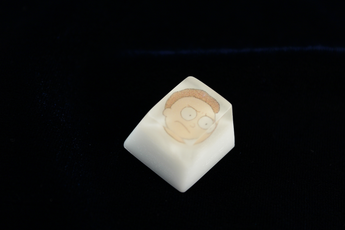 Chaos Caps 1.1 - Morty - PrimeCaps Keycap - Blank and Sculpted Artisan Keycaps for cherry MX mechanical keyboards
