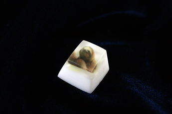 Chaos Caps 1 - Sloth - PrimeCaps Keycap - Blank and Sculpted Artisan Keycaps for cherry MX mechanical keyboards