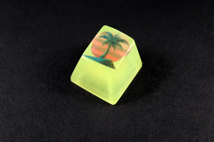 Chaos Caps 1.1 - 1984 Palm - Color change - PrimeCaps Keycap - Blank and Sculpted Artisan Keycaps for cherry MX mechanical keyboards