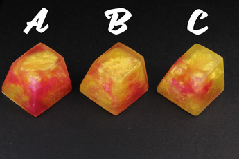 Chaos Caps 1.1 - Pink Dawn - PrimeCaps Keycap - Blank and Sculpted Artisan Keycaps for cherry MX mechanical keyboards