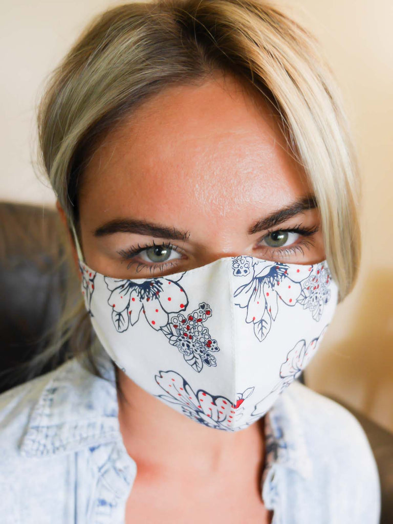 Cotton Mask Flower Print