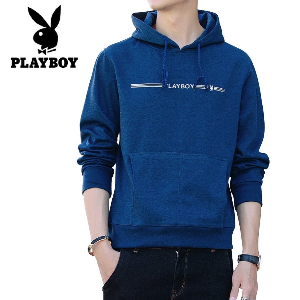 Men PLAYBOY Street Style Pullover Hoodie Fashionapolis