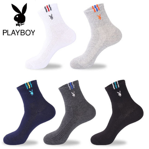 Men 5 Pairs PLAYBOY Extra Thickness Sports Socks Fashionapolis Perfect for gifts