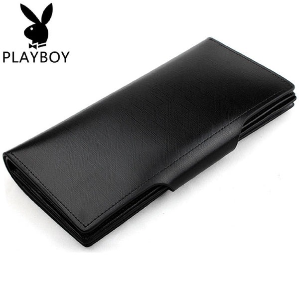 Men PLAYBOY Genuine Leather Long Wallet-Bags-Fashionapolis