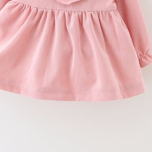Kids Baby Children Girl Bowknot Long Sleeve Dress-Kids & Babies-Fashionapolis