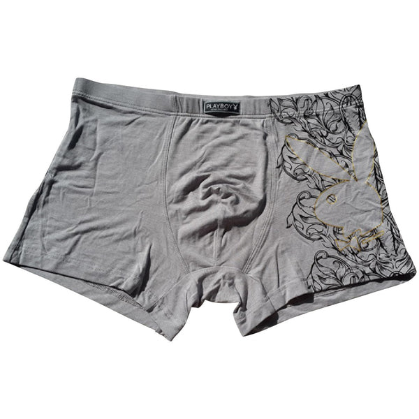 Men 4 Piece PLAYBOY Floral Rabbit Boxer Brief-MEN-Fashionapolis